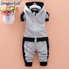 hot deal buy simplee kids baby clothing set long sleeve baby boys set autumn winter hooded sweatshirts+pant baby boy sport clothes suit