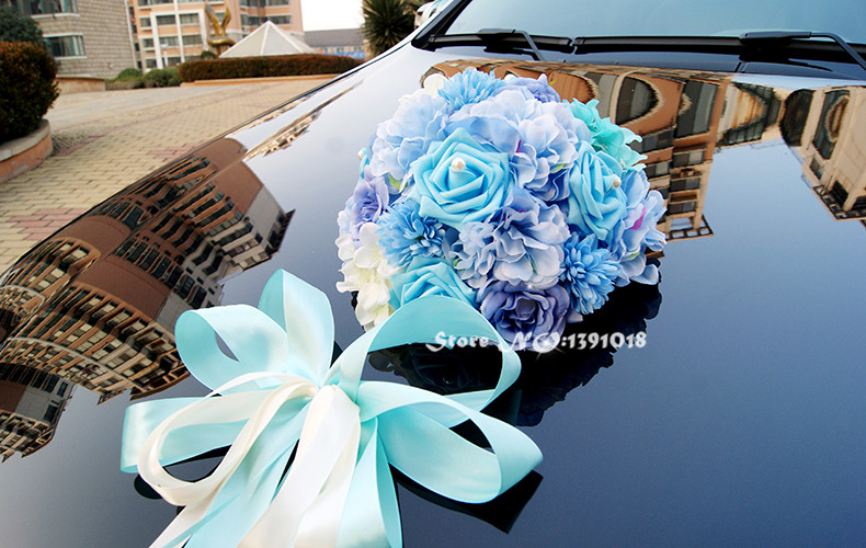 2017 new ribbon bowknot artificial rose flower wedding car 2017 new ribbon bowknot artificial rose flower wedding car decoration set supplies car decorative in artificial dried flowers from home garden on junglespirit Choice Image