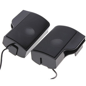 Image 4 - LEORY 1 Pair Mini Portable Clipon USB Stereo Speakers line Controller Soundbar for Laptop Mp3 Phone Music Player PC with Clip