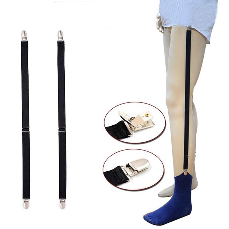 Elastic Suspenders Socks Garters Belts For Men Men Garter Straps Black Sock Suspender Clothes Accessories Adjustable Shirt Stays