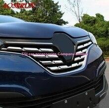 7 шт./1 компл. ABS Chrome автомобилей решетка радиатора отделкой авто-гриль украшения крышки отделка укладка аксессуары для renault kadjar 2016 наклейки