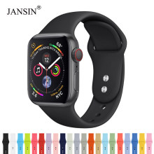 Banda deportiva de silicona para apple watch series 5 4 3 2 1 pulsera apple watch Band 38mm 42mm 40mm 44mm iwatch correa(China)