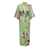 Luz Verde Longa Noite Robe Kimono Banho Vestido De Roupão De Banho das Mulheres do Sexo Feminino Sleepwear Plus Size S M L XL XXL XXXL Pijama Mujer