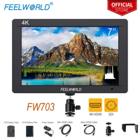 Feelworld FW703 7 Inch On Camera DSLR Monitor Field Full HD Focus Video Assist 1920x1200 IPS With 4K HDMI 3G SDI Input Histogram