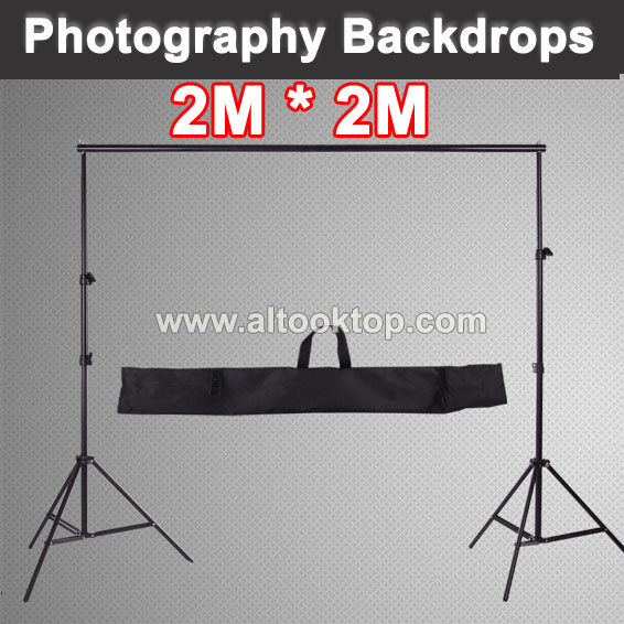 2*2M 6.5FT*6.5FT Professinal photography backdrops camera fotografica background support system stands for photo studio with bag