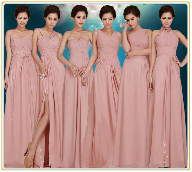 1ba4eafcf9 Blush Bridesmaid Dress Cheap Sexy Mismatch Pink Bridesmaid Dresses 2015 Blush  Pink Bridesmaid Dress Long