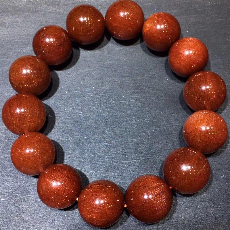 16.5mm Natural Red Hair Rutilated Quartz Crsytal Bracelet Women Men Energy Stone Business Gift Round Beads Bracelet Jewelry16.5mm Natural Red Hair Rutilated Quartz Crsytal Bracelet Women Men Energy Stone Business Gift Round Beads Bracelet Jewelry