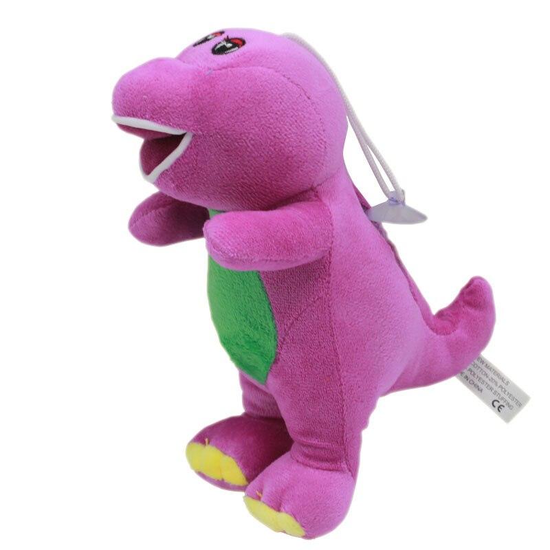 17cm Barney The Dinosaur Plush Toys Doll Cartoon Barney Friends