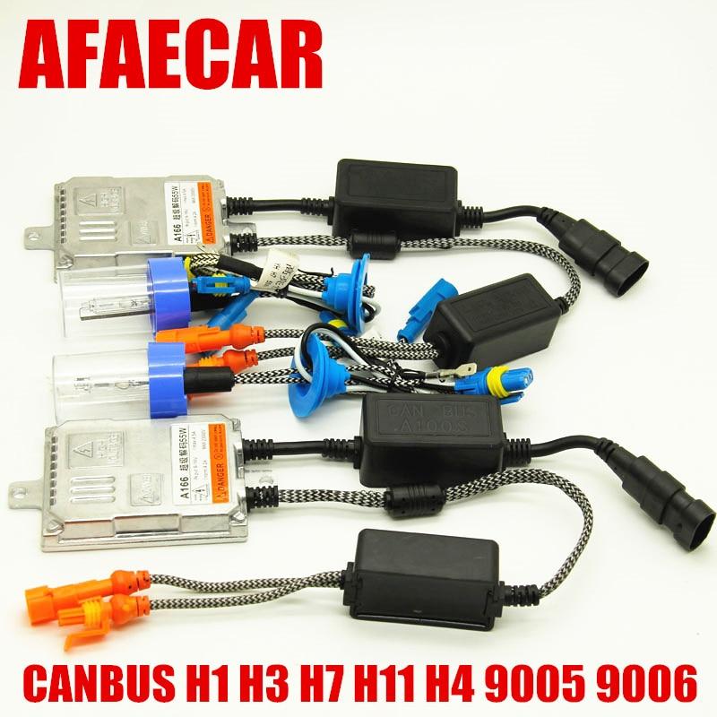 AFAECAR Super rapide lumineux sans erreur H7 xénon canbus HID h11 h4 h11 9005 9006 kit 55 W 12 V 4300 k 5000 k 6000 k 8000 k 12000 k k