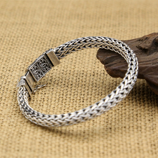 Sterling Silver Solid Thai Silver Chain Bracelets