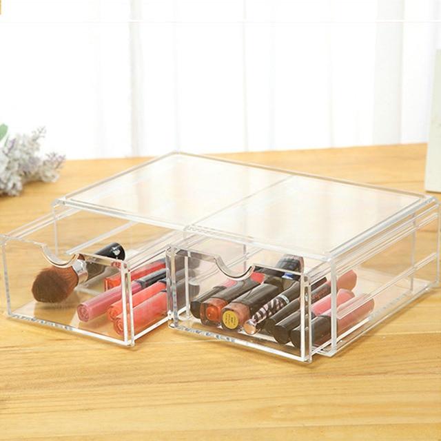 Nail Polish Acrylic Drawer Jewelry Box Case Make Up Organizer Holder