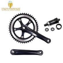 Fixed Gear Bike Crankset road Bicycle Crank Single Speed 170 mm aluminum alloy track bike Chainwheel 46T with BB цена