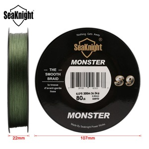 Image 3 - SeaKnight Brand S9 Braid Fishing Line 300M 20 To 100LB Strong Durable 9 Strands Smooth PE Line S Spiral Braided Tech Saltwater