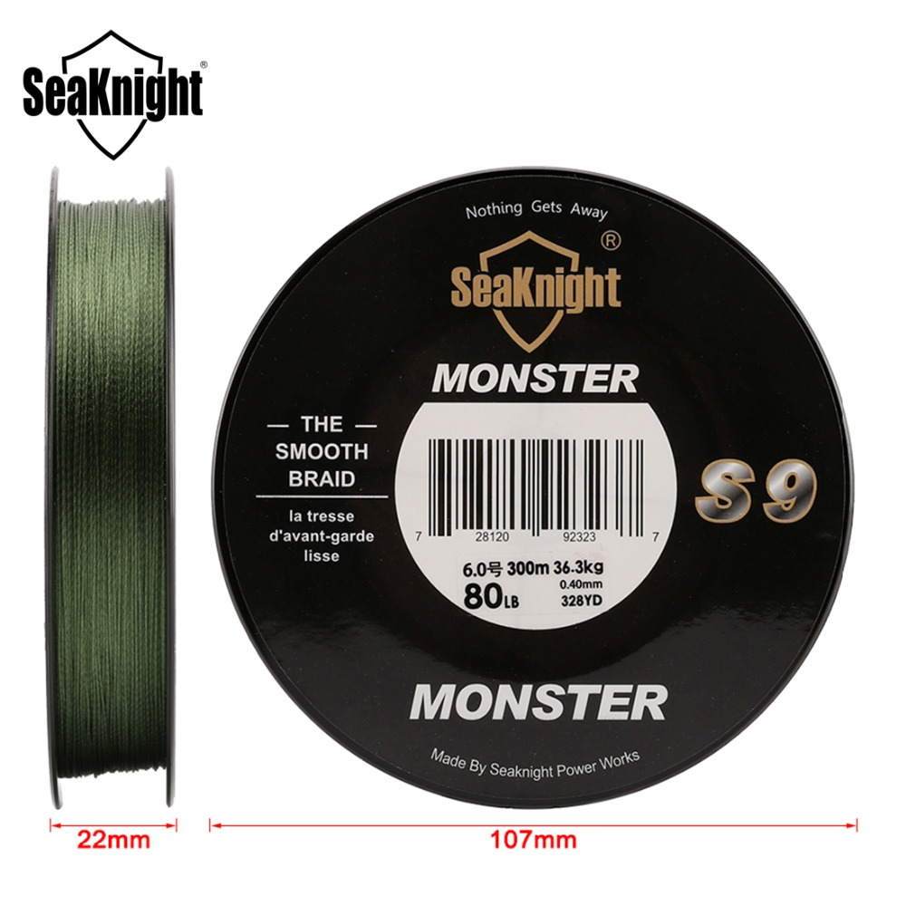 Image 3 - SeaKnight Monster S9 Braid Fishing Line 300M 20 To 100LB Strong Durable 9 Strands Smooth PE Line S Spiral Braided Tech Saltwater-in Fishing Lines from Sports & Entertainment