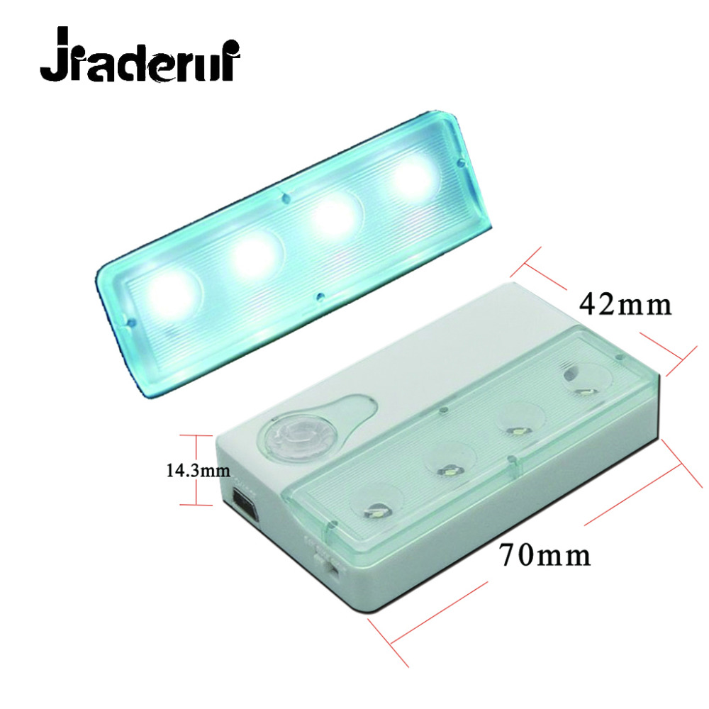 Jiaderui Portable PIR Infrared Sensor Night Lamp LED Motion Detector Dual-window Infrared Sensors Practical Furnitur Night Lamp