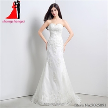 New White Plus Size Lace Wedding Dresses Wedding Party Dress Bridal Gown Vestido de noiva Long Prom Gown