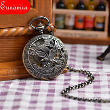 Wholesales Antique Mechanival Hand Winding Pendant Watches Necklace Vintage  Mens Mechanical Military Pocket Watch Gift  PW159