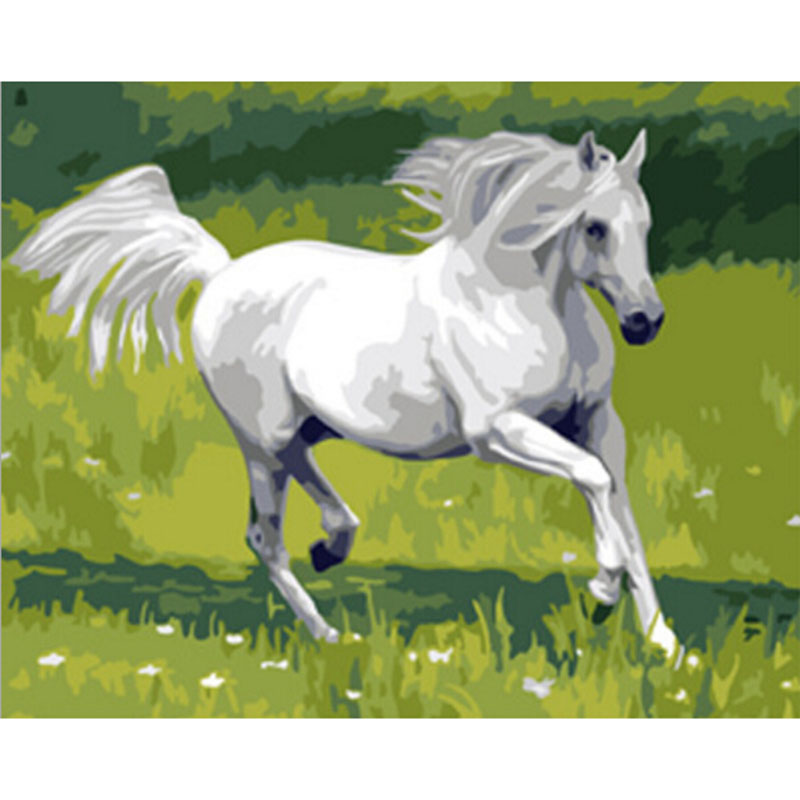 Home Decor Animals Hippie oil painting Horse Art Print Poster Wall Pictures Canvas Painting No Framed painting by numbers k39