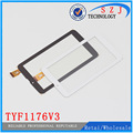Original 7'' inch TYF1176V3 HS1275 V106 FM707101KD tablet pc capacitive touch screen panel Digitizer Free shipping 10pcs/lot