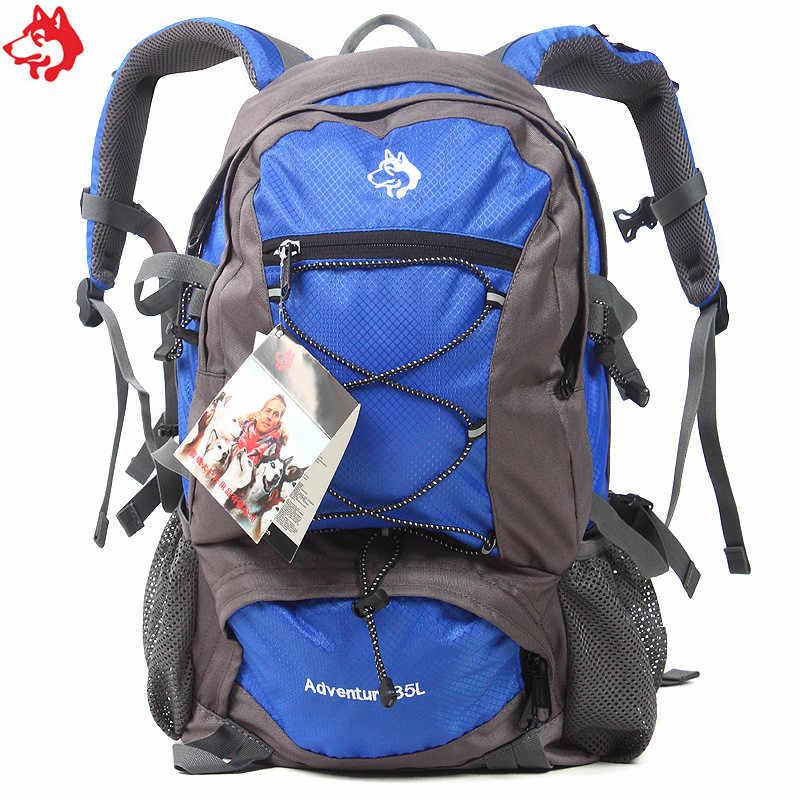 35L barato verde militar/Verde/naranja/rojo/azul senderismo Camping bolsa de viaje impermeable montañismo mochila