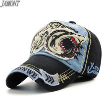Men Women Cotton Baseball Cap Shark Embroidery Chapeau Snapback Hat Hip Hop Fitted Casquette Golf Caps Gorras Para Hombre(China)
