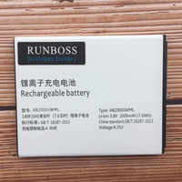 Runboss Original AB2000JWML Battery For Xenium S337 CTS337 Cellphone For PHILIPS AB2000JWMT Mobile Phone 4.35V Tracking Number