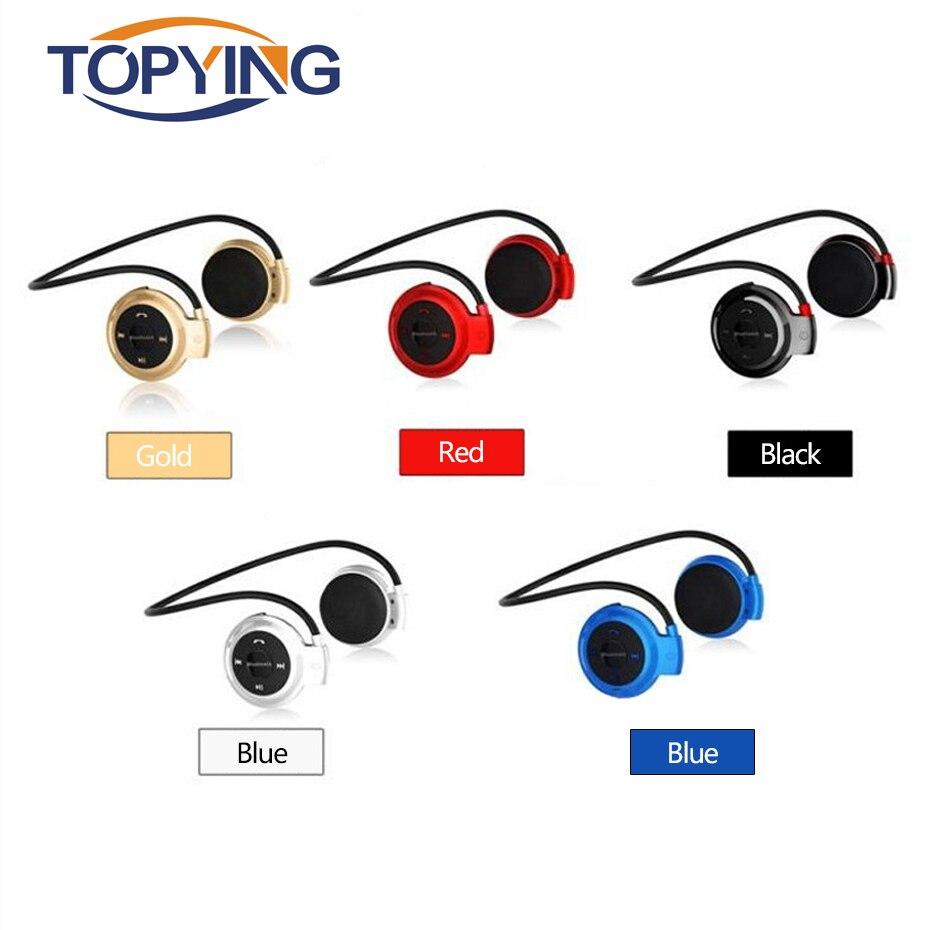 TOPYING Headphone Wireless Mp3 Player With Memory Card Mini Bluetooth Wireless Sport Bluetooth Earphone