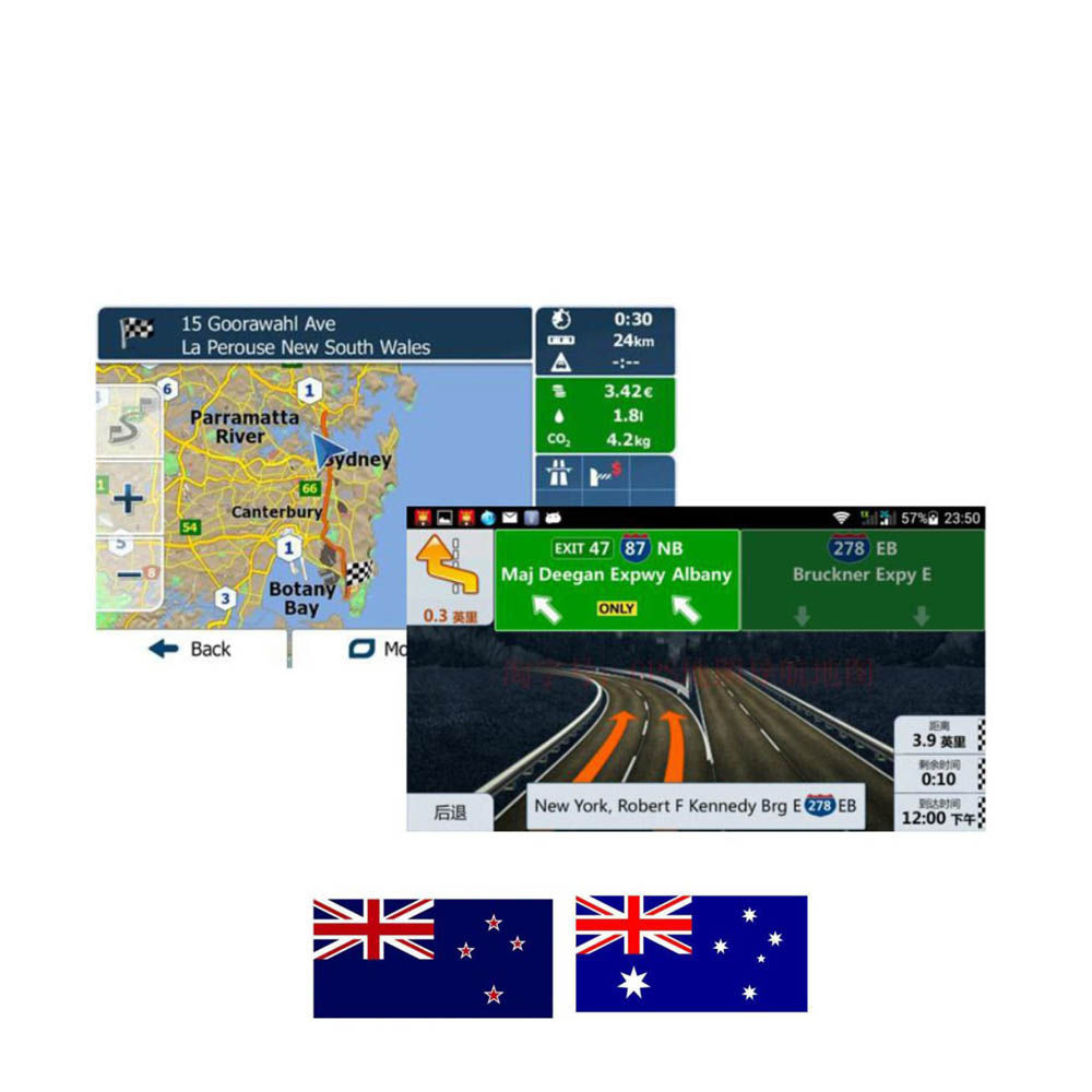 Android System 8G GPS MAP Card With Australia/New Zealand