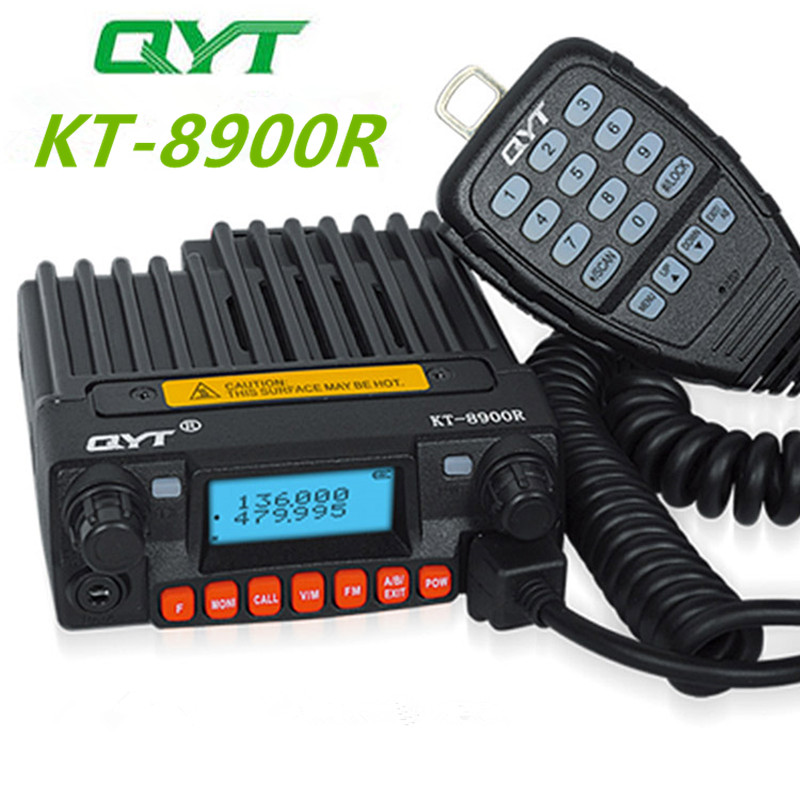 Tri band Mobile Radio 136 174/240 260/400 480MHz Mini Mobile Transceiver QYT KT 8900R-in Walkie Talkie from Cellphones & Telecommunications