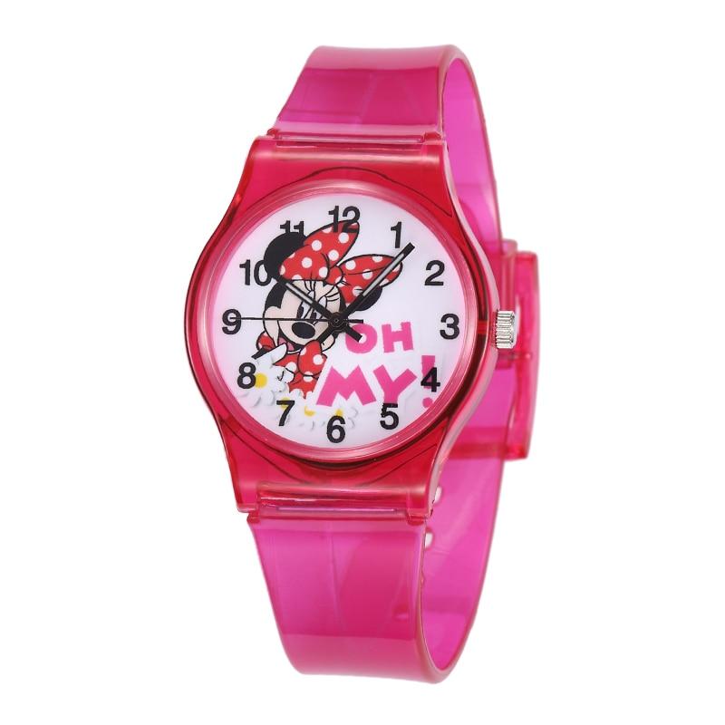 Mickey Minnie Kids Watches Cute Silicone Rubber Analog Quartz Watch Casual Children Girls Students Watch Clock Montre Enfant
