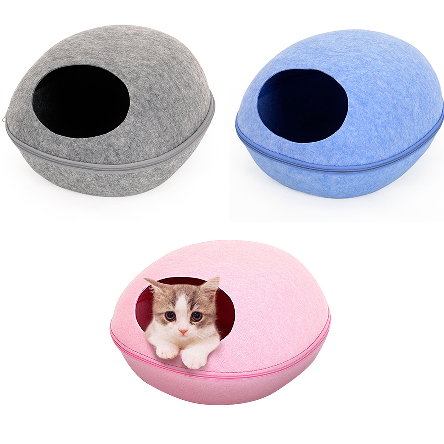 Creative Bed Pets Cat Sleeping House Comfortable Warm Pet House Bag For All Seasons Soft Egg Cave Bed for Cats Kennel Beds Nest