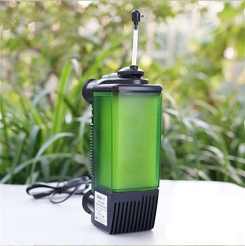 New design fish tank 3 in 1 internal filter submarine type for Outdoor fish tank filter