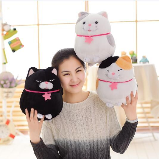 1pcs 30cm blessing cat cute fat cat plush toy stuffed doll animal baby toys birthday gifts
