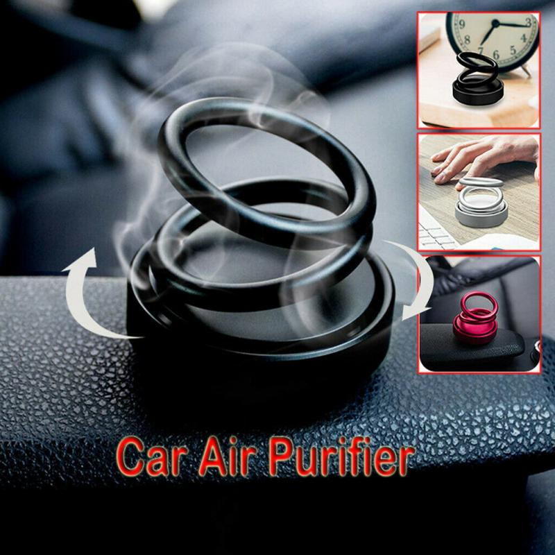 Fashion Car Perfume Ornament Home Air Freshener Office Scent Double Ring Rotating Designed Car Fragrance Accessories Gift