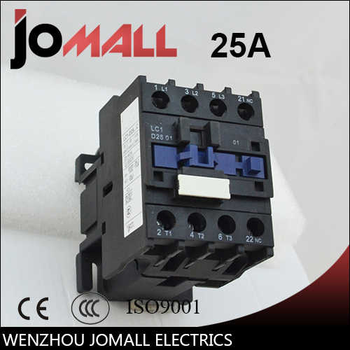 LC1-D25 25 amp black shell three phase four wires AC electrical Contactor
