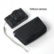 Futerał na aparat cyfrowy etui na sony RX100 RX100M2 RX100M3 RX100M4 RX100M5 RX100M6 dla Canon Nikon Leica aparat fujifilm torba