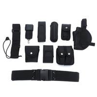10 sets Durable US Security Tactical Belt Combat Gear Utility Nylon Heavy Duty Belt Black