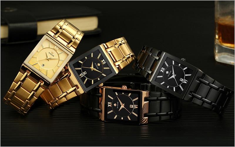 HTB1ypN ak5E3KVjSZFCq6zuzXXaE Men Watches Top Brand Luxury WWOOR Gold Black Square Quartz watch men Waterproof Golden Male Wristwatch Men watches