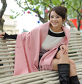 Free Shipping!!! Hot Sale Fashion PInk Lady's Solid 4 Ply 100% Pashmina Cashmere Wool Shawl Scarf  SH-009