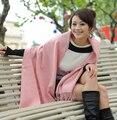 Frete Grátis!!! Hot Sale Da Moda lady Rosa Sólida 4 Ply 100% Pashmina Cashmere Xale De Lã Cachecol SH-009