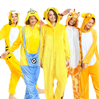f2c1e4d13dcf9e Women Pikachu Cosplay Kigurumi Unicorn Pajamas Onesie Adult Animal Winter  Sleepwear For Man Loose Warm Anime
