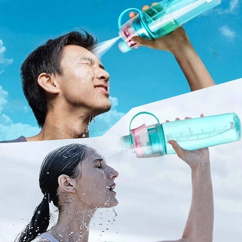 HOT 400ml 600ml Drink Water Spray Bottle Hiking Camping Cycling Mist Spray Bottle sports water bottle