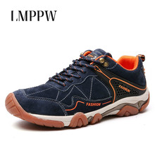 Outdoors Tourism Men Shoes New 2019 Mens Running Hiking Fashion Brand Genuine Leather Sneakers Male Sports