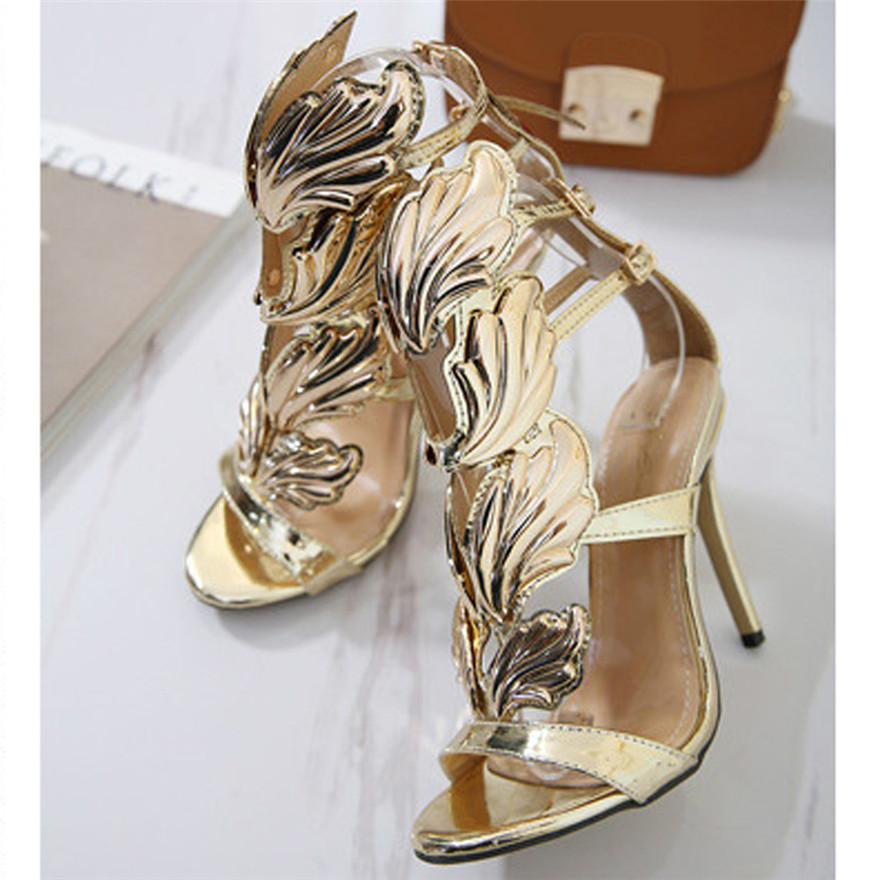 Fashion Women Pumps Leaf Flame High Heel Shoes Sexy Peep Toe High Heels Sandals zapatos mujer 2018 chaussures femmeB цена