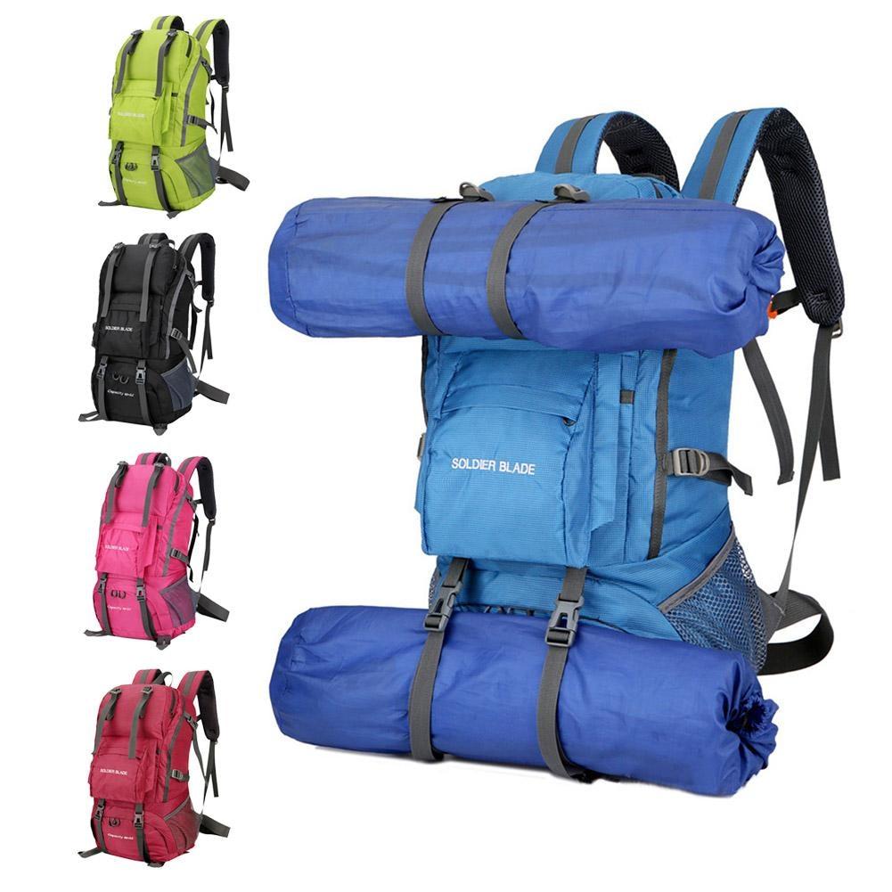 55L Mountaineering Outdoor Backpack Camping Bag Waterproof Hiking Backpacks Molle Sport Bag Climbing Rucksack strong oxygen gazelle 26l backpack outdoor light breathable mountaineering bag double shoulder sport bag
