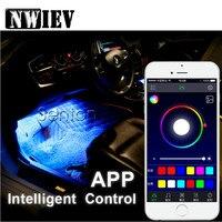NWIEV Car Neon Lamp For Android ios APP Control For BMW Mini Cooper S VW Polo Passat B6 B7 Golf 4 5 6 7 Touareg Bora Tiguan 2017