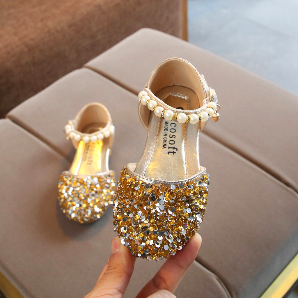 MUQGEW Sandals Toddler Shoes Sequins Pearl-Bling Baby-Girls Princess Kids Summer Children