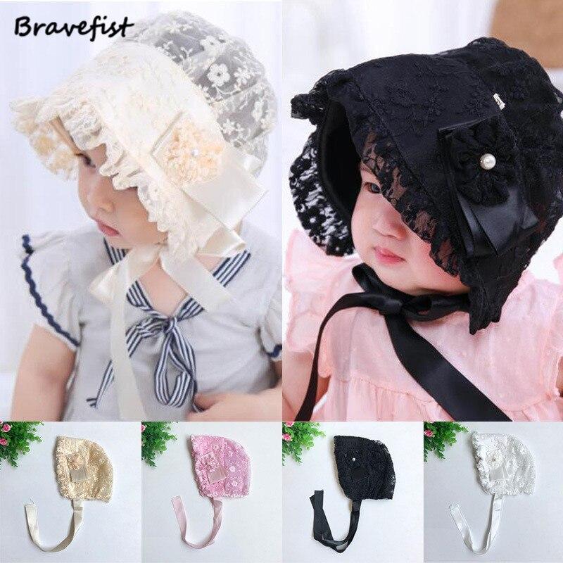 accc0953d20 Wholesale Summer Baby Girls Sun Hats Cute Soft Comfortable Cotton Caps Lace  Bucket Hat Infant Princess