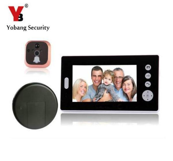 YobangSecurity 2.4G 7 LCD Wireless Video Door Phone Doorbell Peephole Viewer Door Camera Home Security Kit 1 camera 1 Monitor aputure vs 2 finehd 7 lcd field monitor kit array trans wireless video transmitter kit