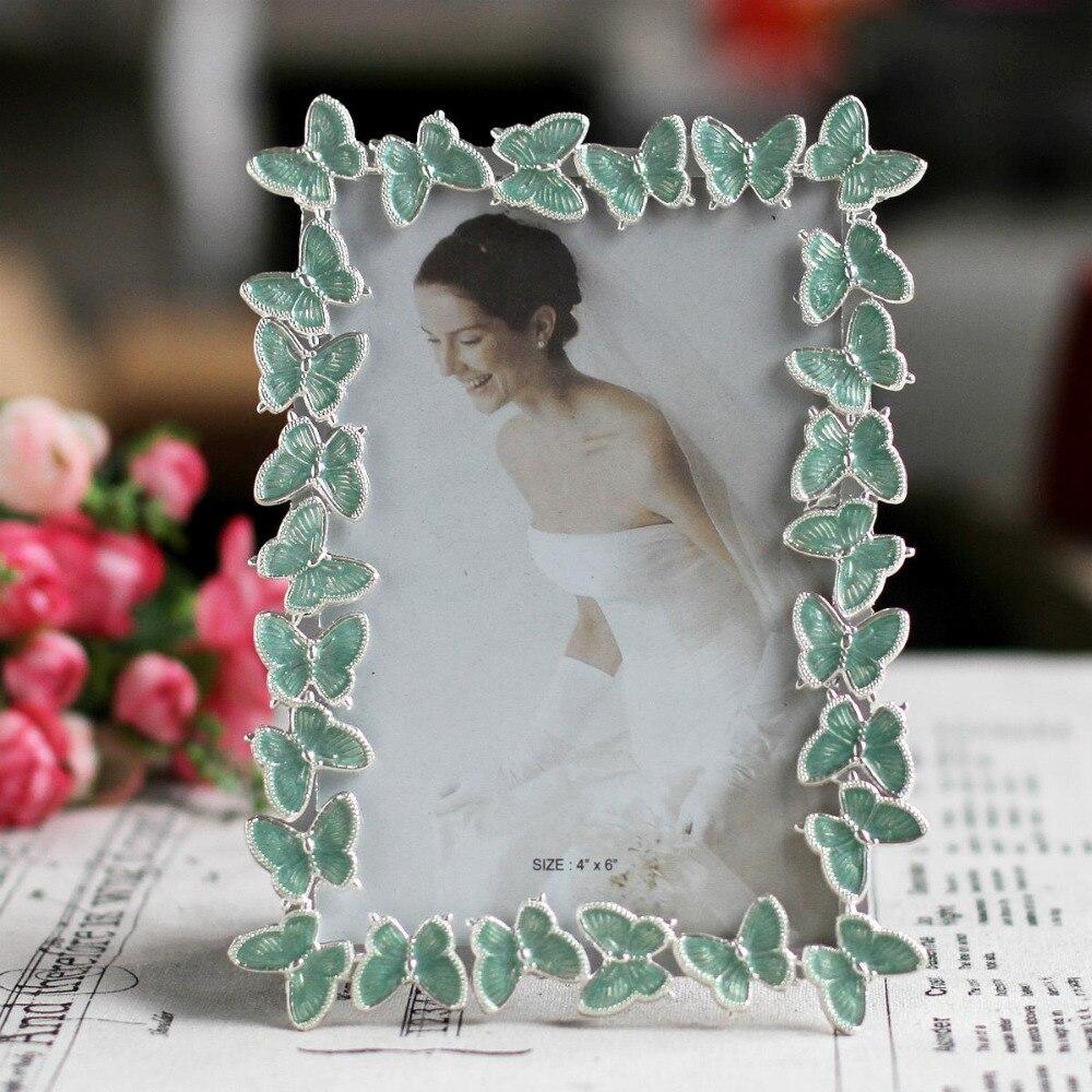 Weiß Schmetterling Hochzeit Bilderrahmen Metall bilderrahmen ...